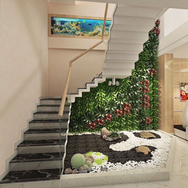 Cách trang trí các bức tường ở cầu thang