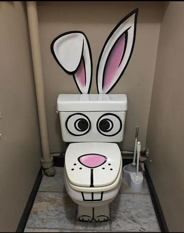 Nhà vệ sinh kiểu gì đây?